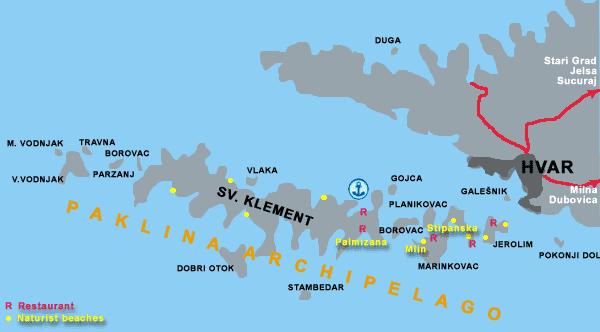 Pakleni islands naturist beaches map