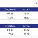 Split to Pula flight schedule: September
