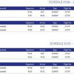 Split to Pula flight schedule: June - August