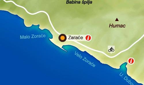 Zarace beach location