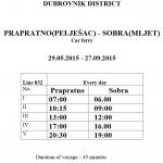 Ferry from Prapratno (Peljesac) to Sobra (Mljet)