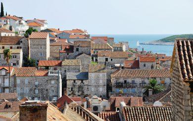 Hvar town rooftops