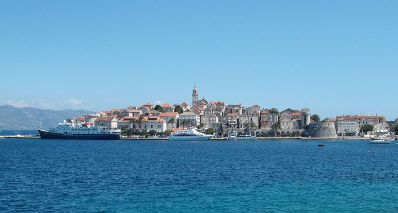 Korcula town, west side view
