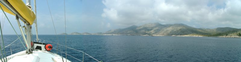Lastovo island view from boat