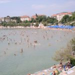 Bacvice sandy beach in Split, Croatia