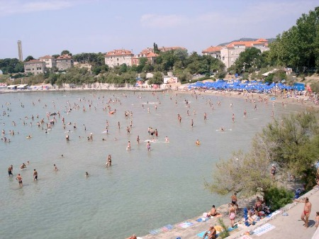 Bacvice sandy beach in Split, Croatia