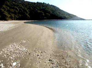 Blace sandy beach on Mljet