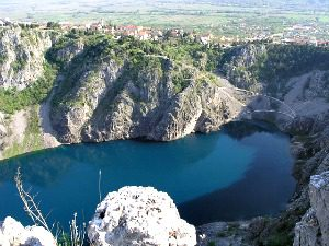Blue Lake in Imotski