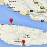 Brac island ferry map