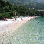 Dugi Rat east beach in Brela
