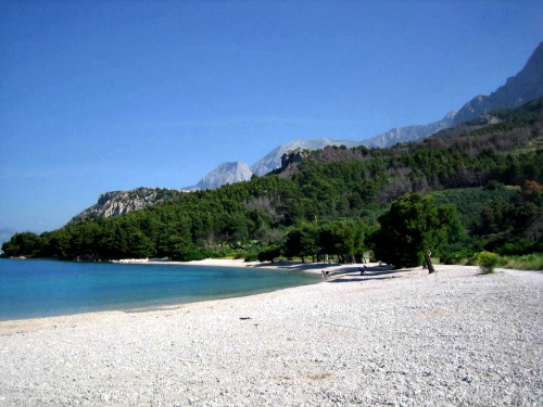 Cvitacka beach in Makarska