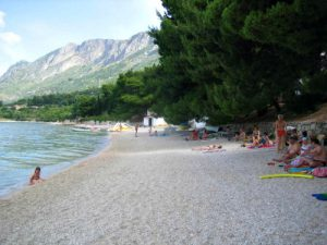 Gradac pebble beach