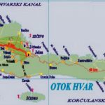 Hvar island map