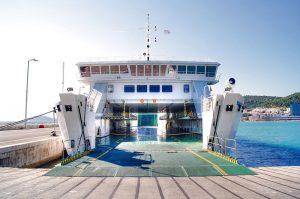 """""""Jadran"""" ferry in Split port"""
