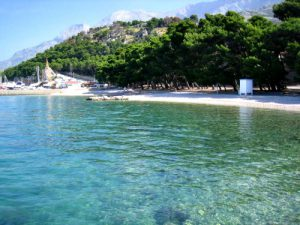 Krvavica beach in Makarska