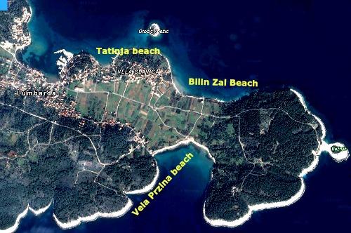 Lumbarda town map