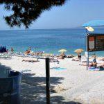 Mali Mulic beach in Baska Voda