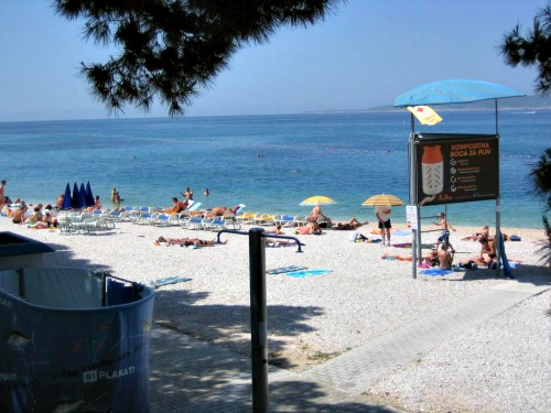 Mali Mulic beach in Baska Voda