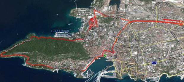 Split Half Marathon route
