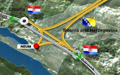 Neum Corridor map