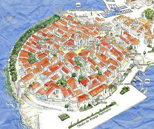 Old Korcula town map