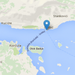 Orebic - Korcula town car ferry map
