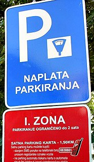 Parking sign in Split