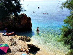 Small beaches in Podgora