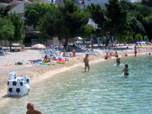 Podluka beach in Baska Voda
