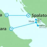 SNAV Pescara Ancona Croatia map
