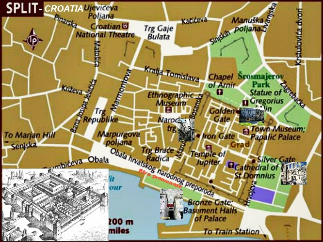 Image result for diocletian's palace map