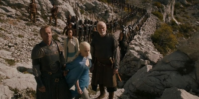 Game of Thrones Klis fortress scene