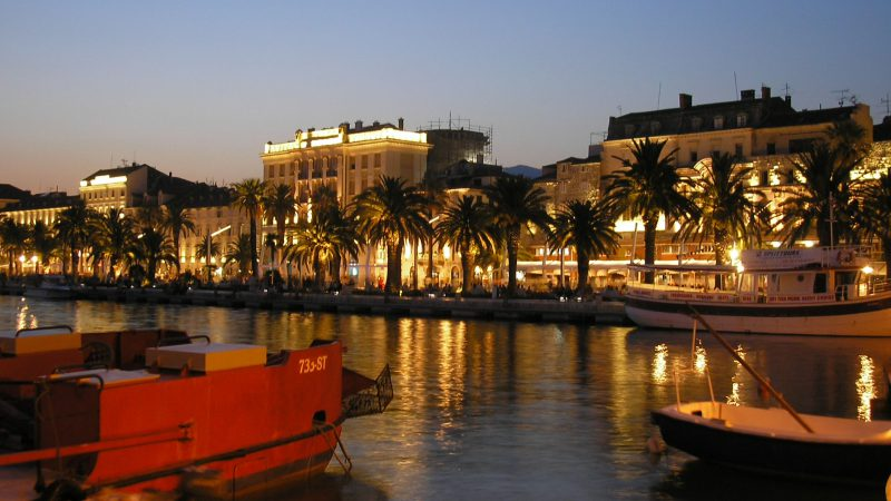 Split Riva at night
