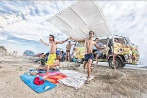 Retro Beach Bus Party Tour