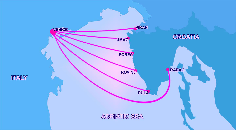 Venice to Croatia ferry routes