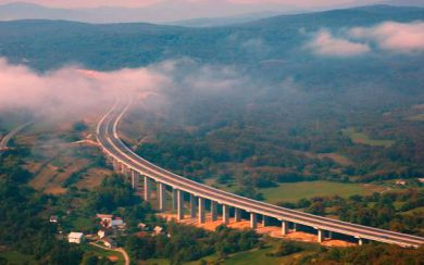 E71 Highway from Zagreb to Split
