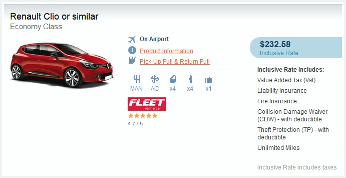 Economy Car Hire Croatia