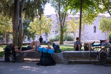 Backpackers in Croatia