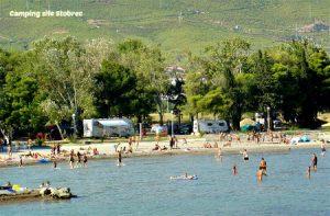Stobrec campsite near Split, Croatia