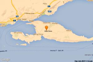 Ciovo island map