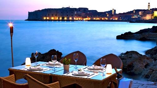 Hotel Excelsior restaurant view (Dubrovnik, Croatia)