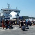 Summer ferry crowds at Split port
