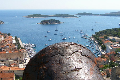 Spanish fortress in town of Hvar