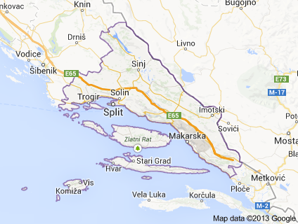 Split county map borders