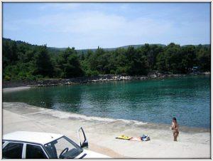 Lanterna beach in Stari Grad, Hvar Croatia