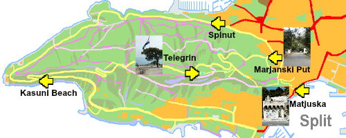 Marjan Hill map