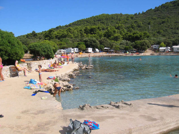 Mlaska beach on Sucuraj, Hvar island, Croatia