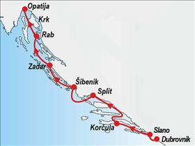 One way cruise - Dubrovnik to Opatija