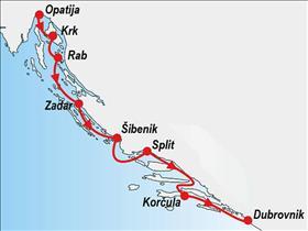One way cruise - Opatija to Dubrovnik
