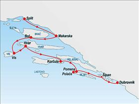 Romantic Cruise from Split to Dubrovnik